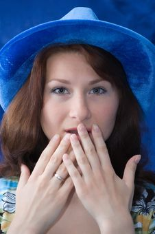Free The Scared Brunette Stock Image - 5380871