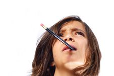 Boy With Pencil In His Mouth