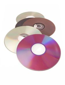 Free Computer Disks Digital White Background Dvd Cd Stock Images - 5381704