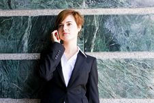 Free Businesswoman At Phone Royalty Free Stock Photos - 5381738