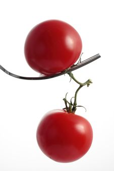 Free Two Tomatoes Royalty Free Stock Images - 5381889
