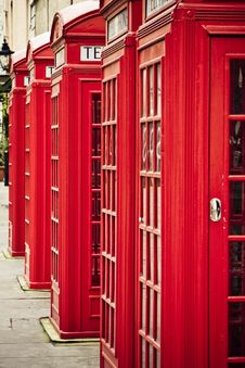 Red Phone Boxes Royalty Free Stock Photos
