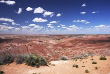 Painting Desert In  Petrified Forest NP Stock Image