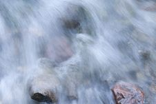 Water Over Rocks Stock Image