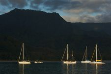 Free Sail Boats In The Early Morning Light Royalty Free Stock Photography - 5383127