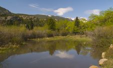 Free Spring Pond In The Rockies Royalty Free Stock Images - 5383209