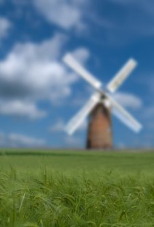 Crop And Windmill Stock Photography