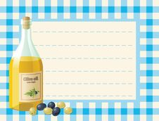 Free Bottle Of Olive Oil On Chequered Background Royalty Free Stock Photo - 5383785
