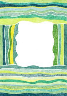 Free Green Striped Frame Royalty Free Stock Photo - 5385315