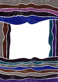 Free Dark Striped Frame Stock Image - 5385371
