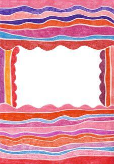Pretty Striped Frame Stock Photo