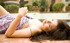 Free Beautiful Girl Laying Down Stock Photo - 5385830