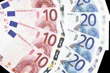 Free Money - 10 And 20 Euro Notes Detail Royalty Free Stock Photos - 5385998