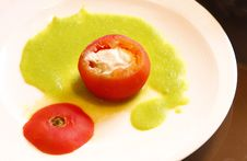 Free Tomato Stuffed With Tuna Stock Photography - 5386362
