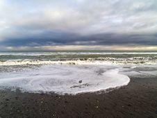 Evening Sky Over Ocean Coastline Stock Photography