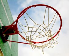 Free Outdoor Basketball Hoop On Blue Sky Royalty Free Stock Photo - 5386575