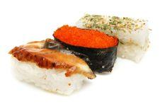Free Three Japanese Sushi Royalty Free Stock Photography - 5386777