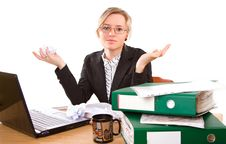Free Businesswoman In Office Royalty Free Stock Photos - 5386838