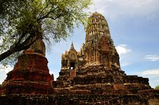 Free Thailand Ayutthaya Wat Ratburana Or Ratchaburana Royalty Free Stock Photos - 5386898