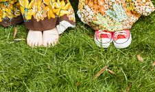 Free Feets On Grass Royalty Free Stock Photos - 5387548