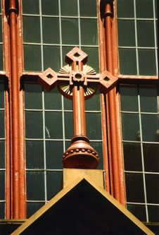 Free Church Window Detail Of Crucif Stock Photo - 5387670