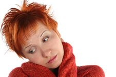 Free Sad Red Haired Woman Stock Photo - 5387760