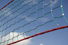 Free Net For Volleyball Or Badminton Royalty Free Stock Photography - 5388067