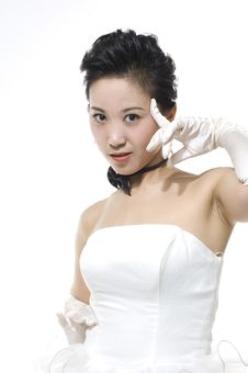 Chinese Bride Royalty Free Stock Photography