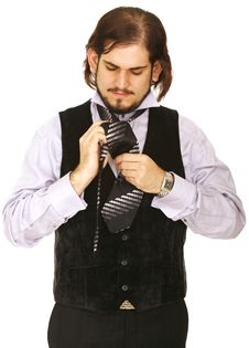 Free Man Doing Tie Stock Images - 5388694