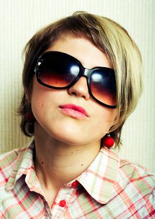 Free Cool Girl. Royalty Free Stock Photos - 5388938