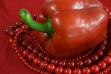 Free Red Paprika And Beads Stock Photos - 5389143