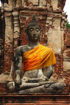 Thailand Ayutthaya Wat Phra Mahathat Royalty Free Stock Image