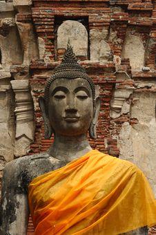 Thailand Ayutthaya Wat Phra Mahathat Stock Image