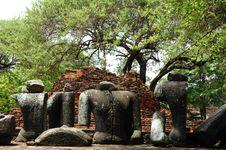 Thailand Ayutthaya Wat Ratburana Or Ratchaburana Royalty Free Stock Image