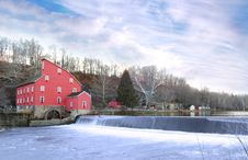 Free Old Mill In Winter Stock Photos - 5389423