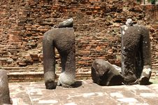 Thailand Ayutthaya Wat Ratburana Or Ratchaburana Royalty Free Stock Photo