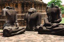 Thailand Ayutthaya Wat Ratburana Or Ratchaburana Stock Photos