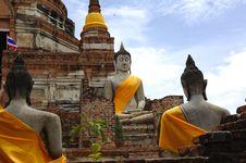 Free Thailand Ayutthaya Wat Yai Chai Mongkhon Royalty Free Stock Photos - 5389798