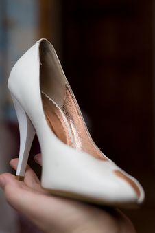 Free White Female Shoes Stock Images - 5389804