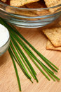 Free Chives With Crackers And Sour Cream Royalty Free Stock Photo - 5397585
