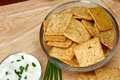 Free Sour Cream And Chive Flavored Crackers Royalty Free Stock Images - 5397649