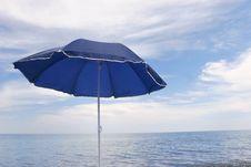 Free Blue Umbrella Royalty Free Stock Image - 5390796