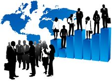 Free Business People And Map Royalty Free Stock Photo - 5390855