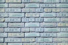 Free Banknotes Painted Brick Wall Stock Image - 5391081