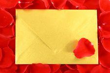 Free Gold Envelope Stock Image - 5391181