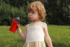Red Flask Royalty Free Stock Photos