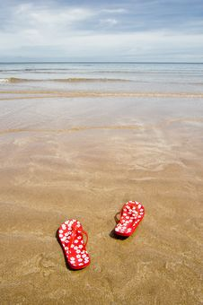 Free Beach Sandals Stock Photography - 5392032