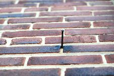 Brick Nail Royalty Free Stock Image