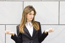 Free Doubtful Businesswoman Stock Image - 5392341