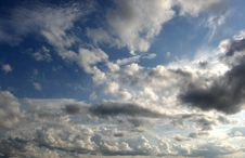 Scattered Clouds In The Sky Stock Image